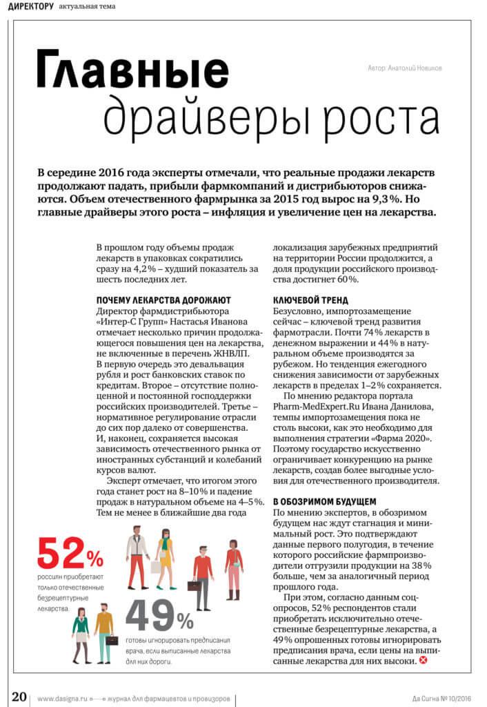 драйверы роста фармрынок россии